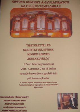 Orgonakoncert Gyulafirátóton